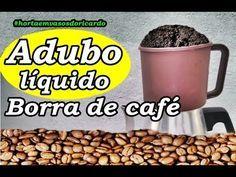 Poderoso adubo líquido: Borra de café, compartilhe esta dica de jardinagem - YouTube