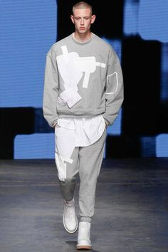 Christopher Shannon | Spring 2015 Menswear Collection | Style.com //JUMPER SHIRT JOGGGERS //