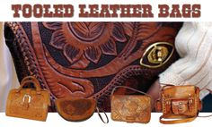 Tooled Leather Bags @ www.secondhandnew.nl