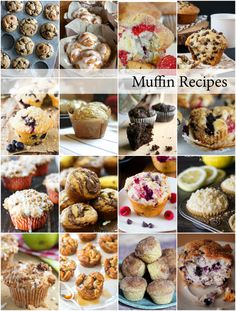 Muffin Recipes Round Up // REcetas de muffins Cupcakes, Cupcake Cakes, Sweets Recipes, Cooking Recipes, Desserts, Bread Recipes, Snack Recipes, Breakfast Dishes, Breakfast Recipes