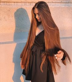 Real Life Rapunzel, Rapunzel Hair, Short Straight Haircut, Straight Hairstyles, Long Red Hair, Very Long Hair, Silky Smooth Hair, Long Hair Models, Long Brunette