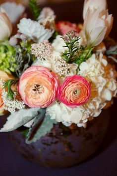 Vintage Ranunculus Centerpieces | Dallas Wedding and Event Florist | Dr Delphinium