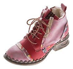 Leder Damen Stiefeletten Comfort Winter Knöchel Schuhe TMA 5355 Stiefel Rot Boots Gr. 41 - http://on-line-kaufen.de/tma/41-eu-leder-damen-stiefeletten-comfort-winter-tma