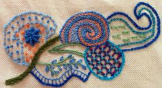 Crewel work by Enid Petherer