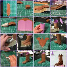 As promised, here are some progress shots from when I made my Cowboy Boot topper for my Girly Western Birthday Cake in March. These are not edited and were merely taken so I could remember what I did hence they are not the best quality nor. Western Birthday Cakes, 19th Birthday Cakes, Western Cakes, Cowboy Birthday, Cowboy Boot Cake, Baby Cowboy Boots, Cowboy Cakes, Fondant Cake Toppers, Cupcake Cakes