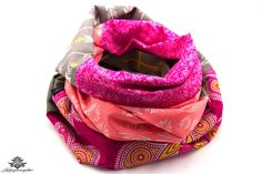 Tuch Loop Schal Loopschal pink grau aus der Lieblingsmanufaktur