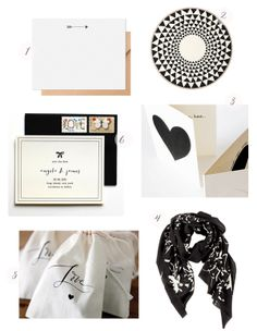 Classic Black + White Inspiration Round up via Oh So Beautiful Paper: http://ohsobeautifulpaper.com/2012/12/inspired-by-classic-black-white/ | 1. Sugar Paper; 2. Ferm Living; 3. Bailey Doesn't Bark; 4. Virginia Johnson; 5. Humunuku; 6. We Heart Paper | Click through for full links and resources!