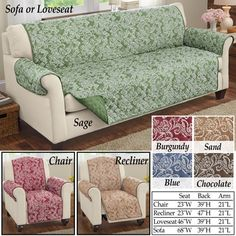 Paisley Reversible Furniture Protector Armchair Slipcover, Sofa Chair, Sofa  Slipcovers, Furniture Covers,