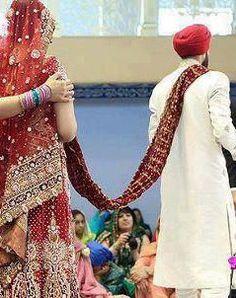dulhan & dulha indian pakistani bollywood bride and groom desi wedding  sikh punjabi