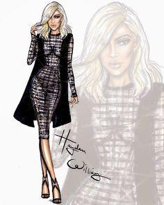 Hayden Williams Fashion Illustrations: Kim's blonde ambition by Hayden Williams
