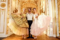 Vivienne Westwood Designs Ballet Outfits for Vienna Philharmonic New Year Concert Ballet Photos, Dance Photos, Dance Pictures, Vivienne Westwood Designs, Dance Positions, New Year Concert, Nostalgic Music, Magnified Images, Vienna Philharmonic