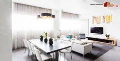 """Maxine & Karstan's Living and Dining Room - featuring a Samsung 55"""" 3D Smart TV from The Good Guys!"""