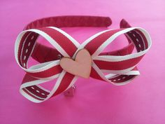 Love heart boutique bow alice band