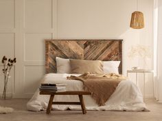 Appear this significant pic in order to look into the here and now knowledge on bedroom furniture rustic Reclaimed Wood Headboard, Reclaimed Wood Furniture, Rustic Bedroom Furniture, Bed Furniture, Coaster Furniture, Furniture Layout, Furniture Makeover, Furniture Ideas, Herringbone Headboard