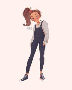 My work — Sara Faber Cute Girl Drawing, Cartoon Girl Drawing, Girl Cartoon, Cartoon Drawings, Cartoon Art Styles, Cute Art Styles, Art Drawings Sketches, Cool Drawings, Arte Sketchbook