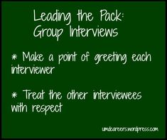 Leading the Pack: Group Interviewing – Peer Into Your Career Interview Skills, Interview Process, Interview Tips Weaknesses, I Need A Job, Extroverted Introvert, Interview Questions And Answers, Bank Jobs, Job Search, New Job