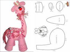 Cantinho da Titi (Moldes e riscos para artesanato): ***Moldes Girafa***