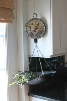 Antique Hanging Kitchen Scale by MyVintageLane on Etsy, $75.00