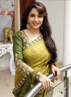 Looking for Bollywood Replica Madhuri Dixit Pista Green Colored Saree? Buy it at from Rediff Shopping today! for Bollywood Replica Madhuri Dixit Pista Green Colored Saree & other Apparels, Accessories. Bollywood Sarees Online, Bollywood Designer Sarees, Bollywood Fashion, Bollywood Style, Vintage Bollywood, Bollywood Girls, Bollywood Photos, Indian Celebrities, Bollywood Celebrities