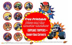 FREE PRINTABLE Blaze and the Monster Machines NIck Jr Printable Cupcake Toppers and Goody Bag Cutouts + FREE Printable Coloring Pages and Party Games! ad