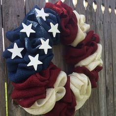 NEW ALL American Flag Burlap Bubble Wreath, Flag Wreath, Burlap Bubble Wreath, Patriotic Wreath ^^ Awesome product. Click the image : Handmade Giftsof July Decor: DIY Patriotic Wreath Idea. During the summer months this burlap wreath can brighten you Burlap Bubble Wreath, Flag Wreath, Patriotic Wreath, Patriotic Crafts, Patriotic Decorations, July Crafts, Wreath Burlap, Burlap Flag, Burlap Crafts
