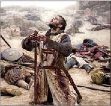Bloody Templar praying.