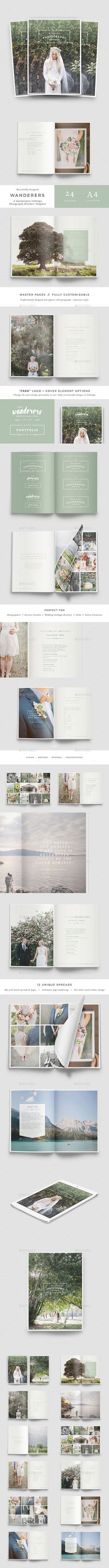 Wedding Photography Brochure — Indesign Template #minimalist #pricing  Brochure…