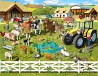 TOUCH this image: Boerderij by ingrid Childrens Wall Murals, Kids Wall Murals, Murals For Kids, Wall Murals Bedroom, Speech Therapy Activities, Farm Yard, Bird Art, Playroom, Images