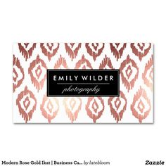 modern lime green watercolor ikat business card