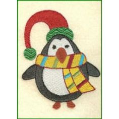 Free Penguin Embroidery Design