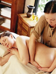 Massage can raise your body's level of oxytocin, that hormone that can bring on contractions. Get your massage on!