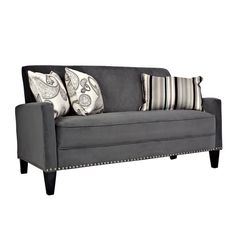 angelo:HOME Gray Velvet Sofa design inspiration on Fab.