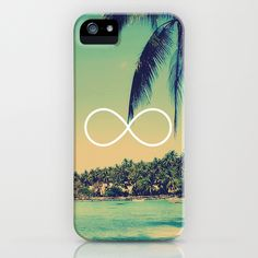 Forever Summer Vintage Beach Infinity iPhone Case