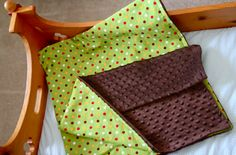 Easy baby blanket with Minky