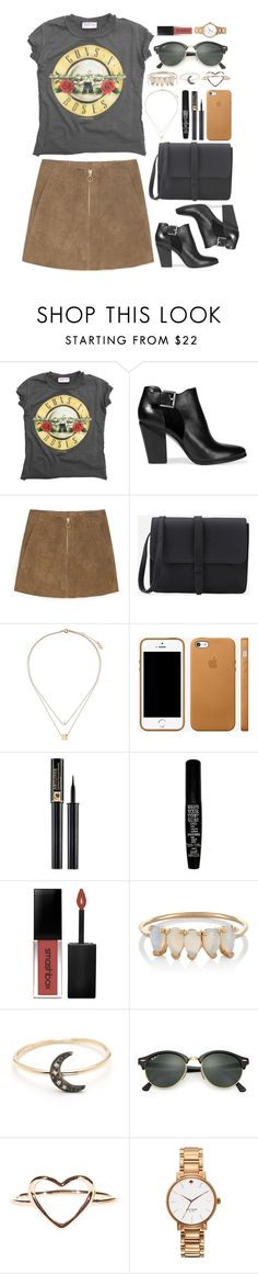 """""""Festival"""" by iarsotelo ❤ liked on Polyvore featuring AMPLIFIED, MICHAEL Michael Kors, MANGO, Topshop, Lancôme, TheBalm, Smashbox, Loren Stewart, Ray-Ban and Kate Spade"""