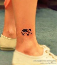 Several cute elephant tattoo designs for girls including totem type elephant tattoos, and several little baby elephant tattoos .