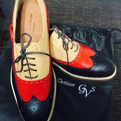 #funky #shoes #wingtips from GvS Custom Clothier