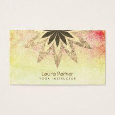 Lotus flower business card business card for yoga pinterest lotus flower yoga instructor vintage holistic business card colourmoves