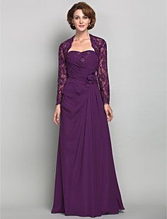 Sheath/Column Sweetheart Floor-length Chiffon Mother of the ... – CAD $ 236.33   Looks like this is the one!!  Now to just decide on the color....