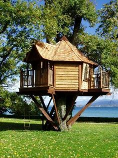 Tree House - I know one of Robert's dreams is to build one for his kids one day. But who said tree houses are for the kids only?!?! Hahaha! :)