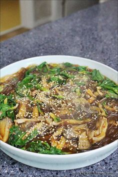 Spinach and mushroom Korean Dishes, Korean Food, Easy Cooking, Cooking Recipes, K Food, Tasty, Yummy Food, Spinach Stuffed Mushrooms, Korean Cuisine