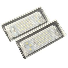0aa1b0a3da4 2Pcs LED License Plate Light Number Plate Lamp For BMW E39 5D 5 Door Wagon  Touring
