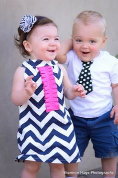 4th of July Ready to Ship Navy Chevron Dress with by BBELLECOUTURE, $39.95