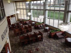 View above Reading room