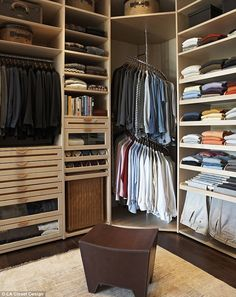 Surprisingly almost half of clients are men wanting high-end, man-cave style closets