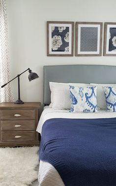 Make your bedroom beautiful on a budget!  DIY nightstand makeover and easy decorating tips!