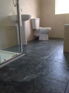 Wave Anthracite Ceramic Floor tile £18 450x450