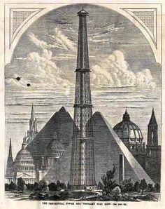 The Centennial Tower (la torre del centenario) es el primer proyecto creíble de una torre de 1.000 pies (≈300 metros), imaginada en 1874 por los ingenieros estadounidenses Clark y Reeves para la Exposición universal de 1876 en Filadelfia.