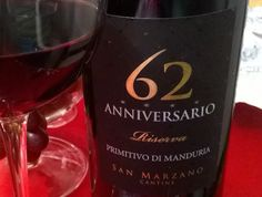 Sobre vinhos e afins: Anniversario 62 Primitivo di Manduria Riserva 2010