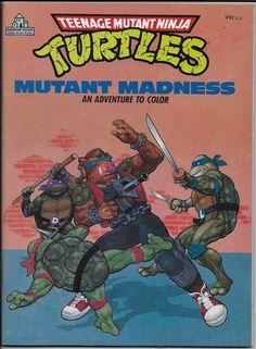 Teenage Mutant Ninja Turtles 1988 Coloring Book TMNT Mutant Madness UNCOLORED